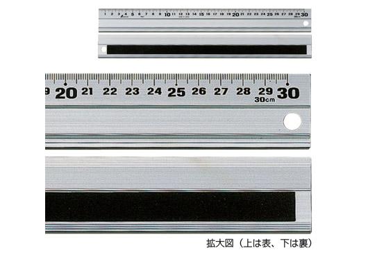 長さの測定、溝引き、カッティング定規として使えます。30〜100cmは裏面に滑り止め用のスポンジ付きです。(15cmは滑り止めなし)アルミは温度変化で伸縮しやすい為、  ...